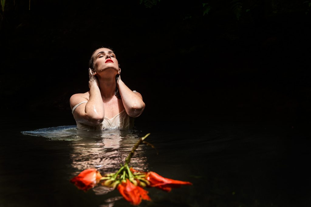 limited edition fine art photography woman in water