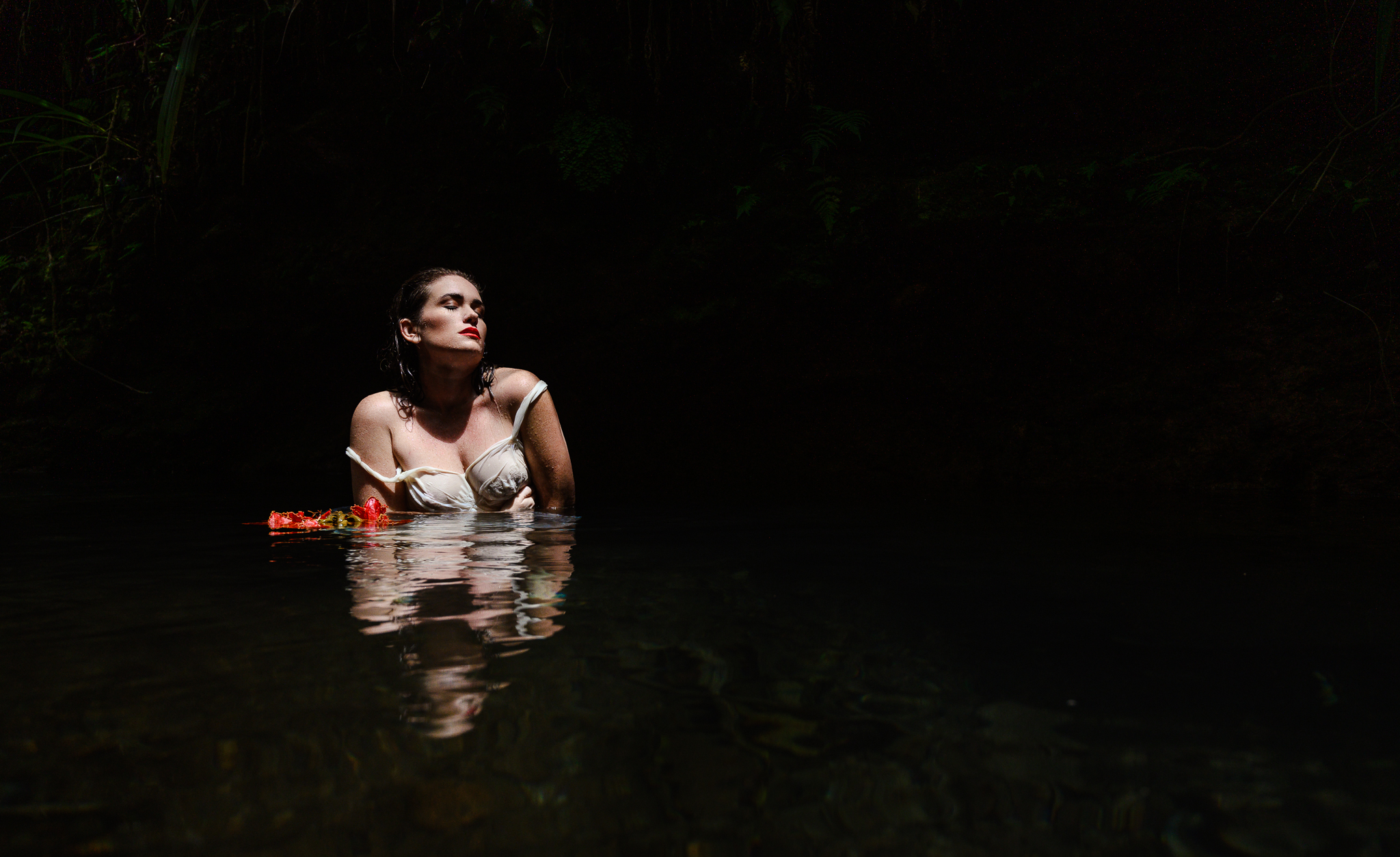 fine art woman in water limited edition photography