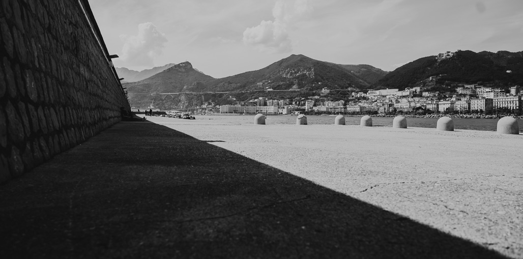 black and white landscape shadows and angles italy amalfi coast